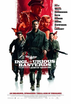 Theatrical Poster for Quintin Tarantino's Inglourious Basterds with Brad Pitt
